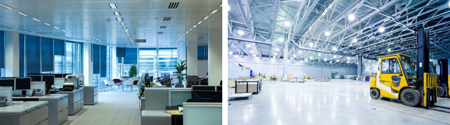 Lighting controls enhance the working environment and reduce energy costs